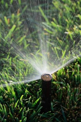 Lawn sprinkler service in Stockbridge GA by Pro Landscaping.